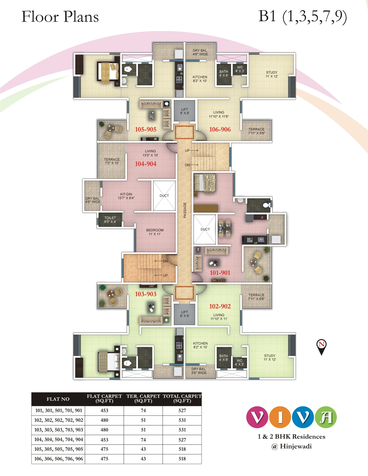1 2 bhk luxury apartments in hinjewadi 2 bhk flats for for 1 bhk floor plans india